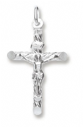 Sterling Silver Crucifix on twisted cross pendant 1.7g